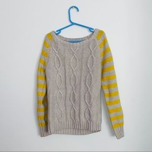 Size 10-12 old navy knot grey and yellow sweater